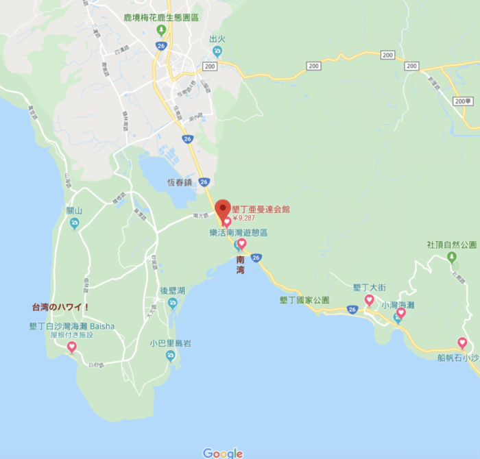 Amanda Hotel周辺地図
