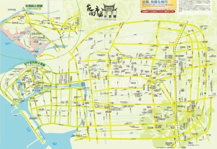 台南市観光地図